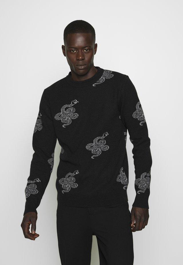 BREAK - Pullover - black/white