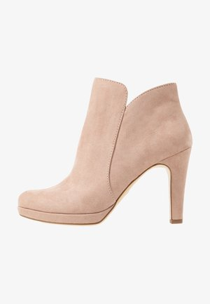 High heeled ankle boots - old rose