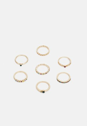 ONLANDREA FINGERRINGS 7 PACK - Pierścionek - gold-coloured