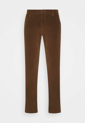 SMART FLEX ALPHA SLIM - Trousers - tobacco
