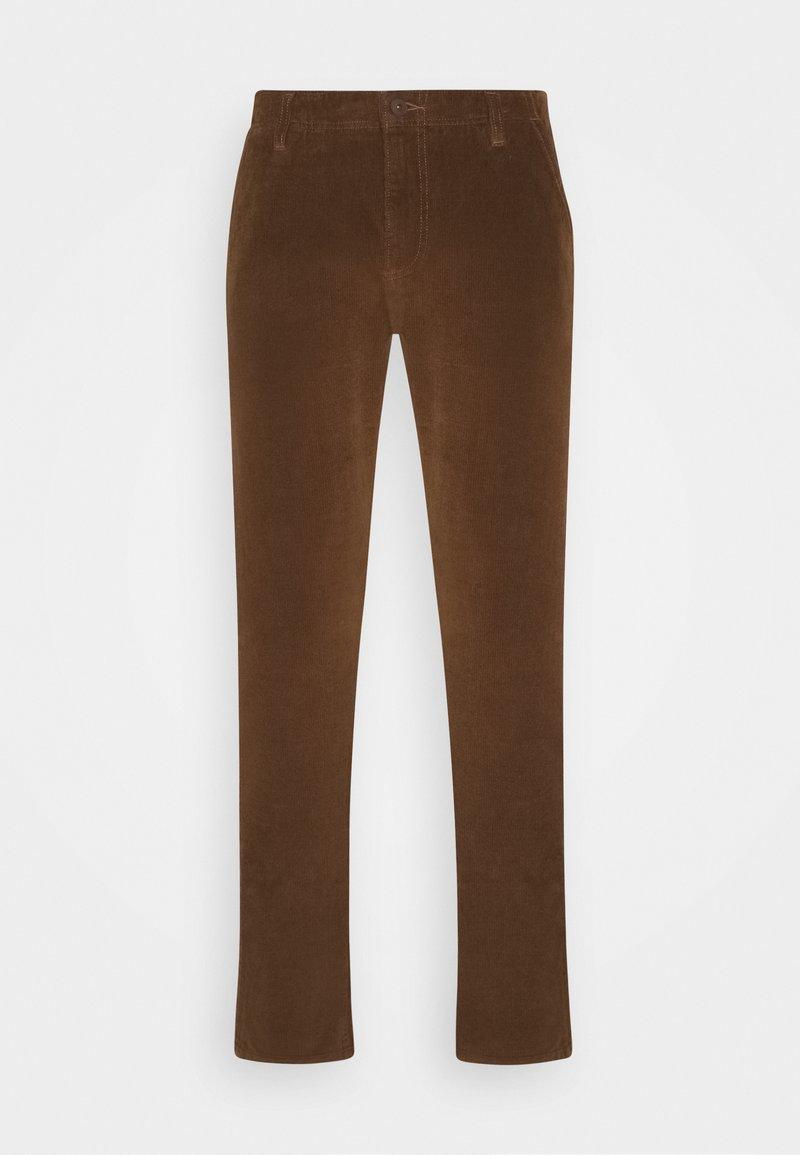 DOCKERS - SMART FLEX ALPHA SLIM - Trousers - tobacco