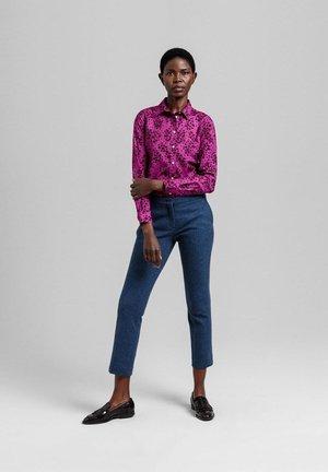 Button-down blouse - orchid purple