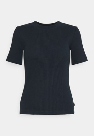 RIBBED TEE - T-shirt imprimé - sky captain