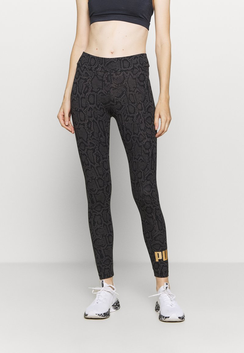 Puma - LEGGINGS - Medias - black