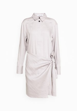 BLEND LONG SLEEVE WRAP DRESS - Robe chemise - grey
