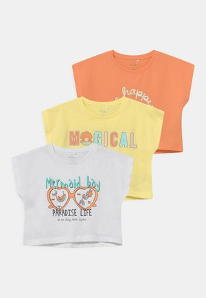 NMFVILMA 3 PACK - Print T-shirt - yellow pear