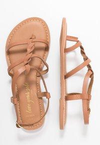 New Look Wide Fit - WIDE FIT GOA - Sandály s odděleným palcem - tan - 3