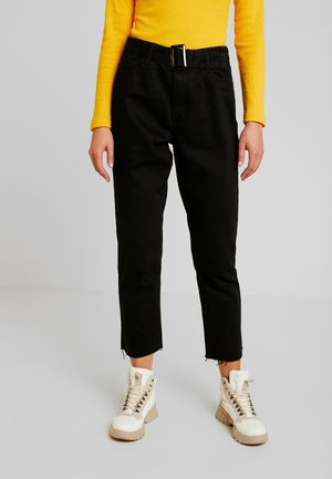 TORTOISE BUCKLE - Straight leg jeans - black