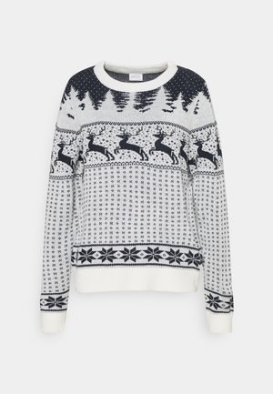 VICOMET CHRISTMAS - Maglione - snow white/navy