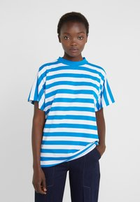 Won Hundred - BROOKLYN STRIPE - Print T-shirt - imperial blue / white - 0
