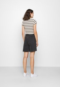 BDG Urban Outfitters - STRIPED COLLARED - Button-down blouse - black/beige - 2