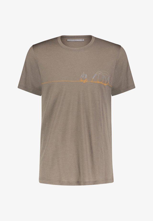 "ICEBREAKER HERREN FUNKTIONSSHIRT ""MEN TECH LITE S/S CREWE SINGLE - Print T-shirt - kit (208)"