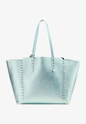 Tote bag - blau metallic