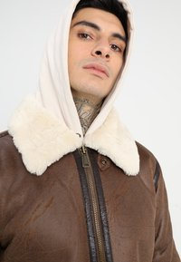 Alpha Industries - Faux leather jacket - brown - 4