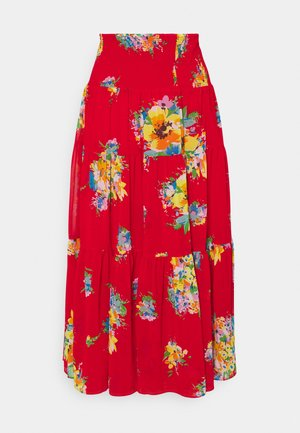 VINNEA - A-line skirt - bright hibiscus multi