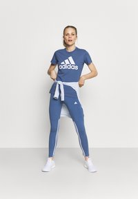 adidas Performance - T-shirt print - blue - 1