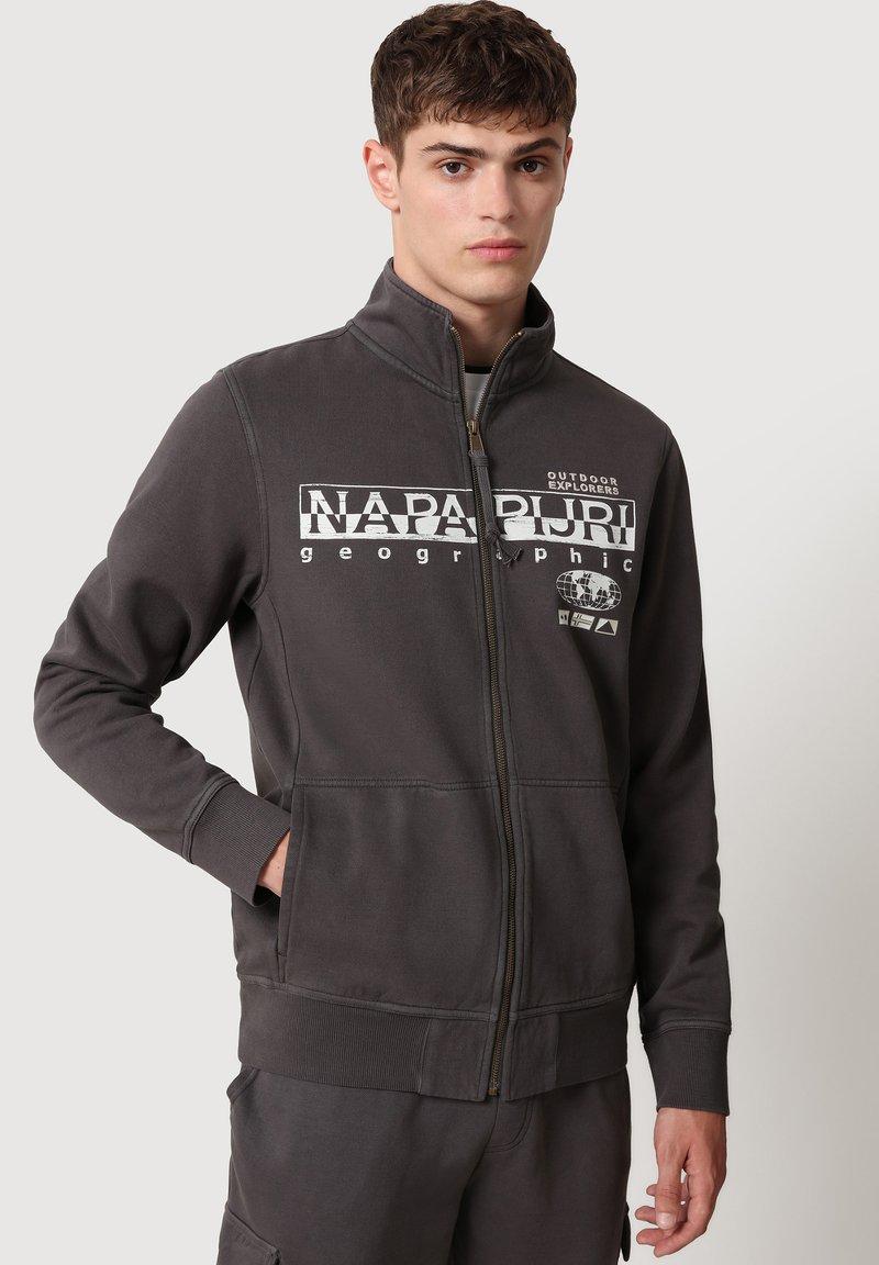 Napapijri - Zip-up sweatshirt - dark grey solid