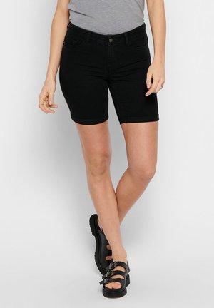 ONLSUN ANNE  - Szorty jeansowe - black