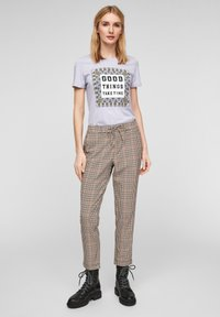 s.Oliver - MIT FOTOPRINT COLLAGE - T-shirt print - lilac good things print - 1