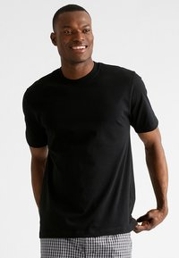 Schiesser - AMERICAN 2PACK - Camiseta interior -  black - 2