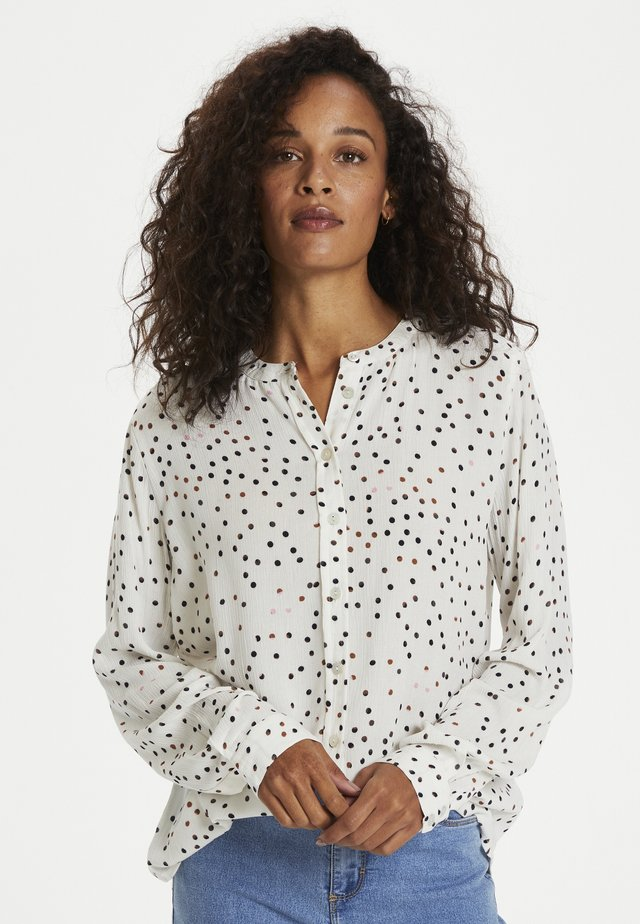KADARIA - Skjortebluser - chalk / multicolor dots