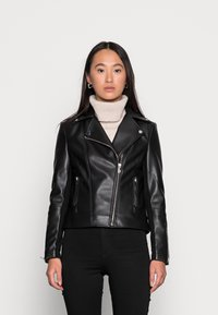 Forever New - CORRIE BIKER - Faux leather jacket - black - 0