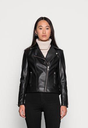 CORRIE BIKER - Faux leather jacket - black