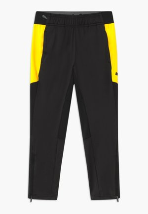 Tracksuit bottoms - black/ultra yellow