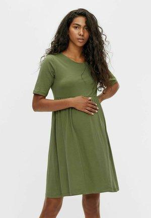 Jersey dress - olivine