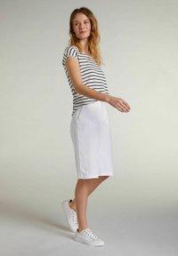 Oui - Print T-shirt - white blue - 1