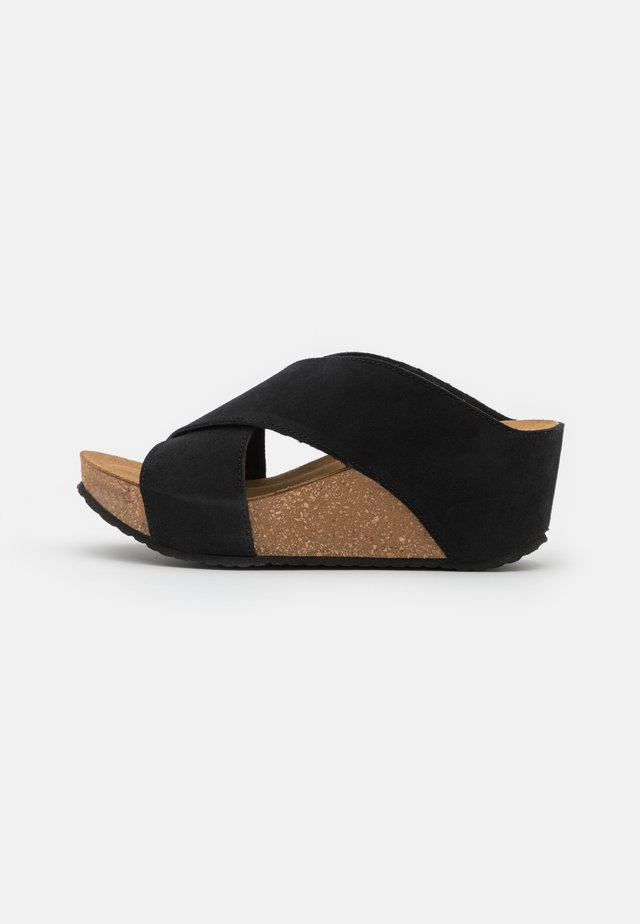 FRANCES EDITION - Heeled mules - black