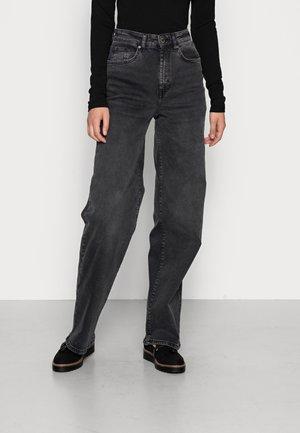 ONLHOPEEX HIGH WIDE LEG - Relaxed fit jeans - black denim