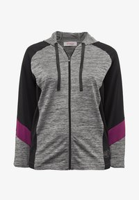 Sheego - Zip-up hoodie - heather gray - 4