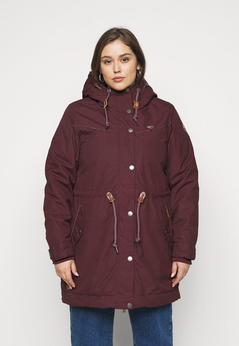 Ragwear Plus - CANNY - Zimní kabát - wine red