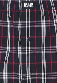 Urban Classics - WOVEN PLAID DOUBLE 2 PACK - Boxershort - red/navy - 4
