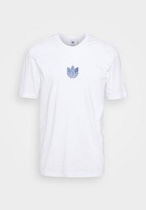 TEE UNISEX - T-shirt z nadrukiem - white/crew blue