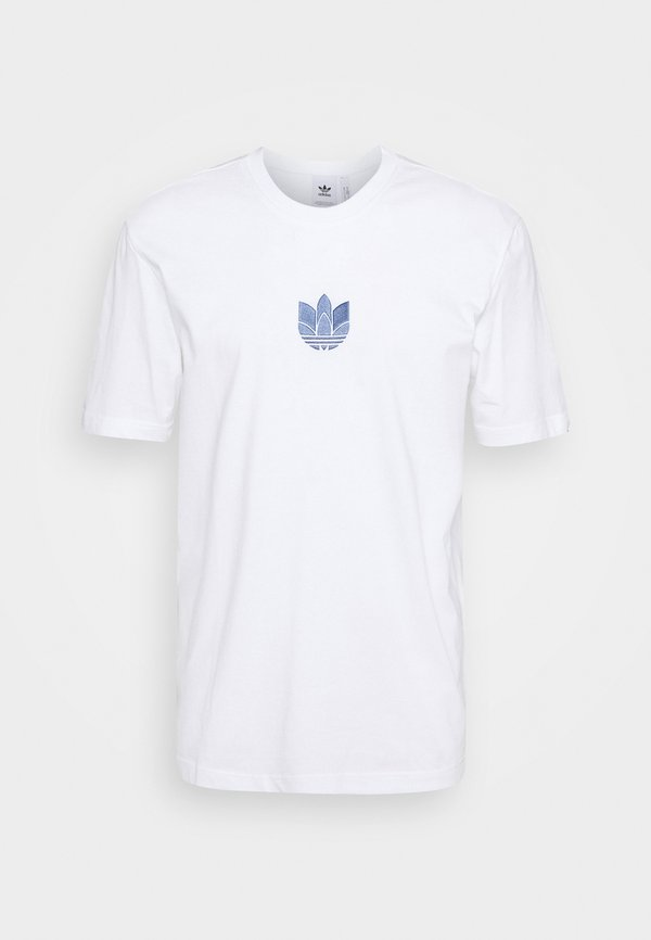adidas Originals TEE UNISEX - T-shirt z nadrukiem - white/crew blue/biały Odzież Męska BVMG