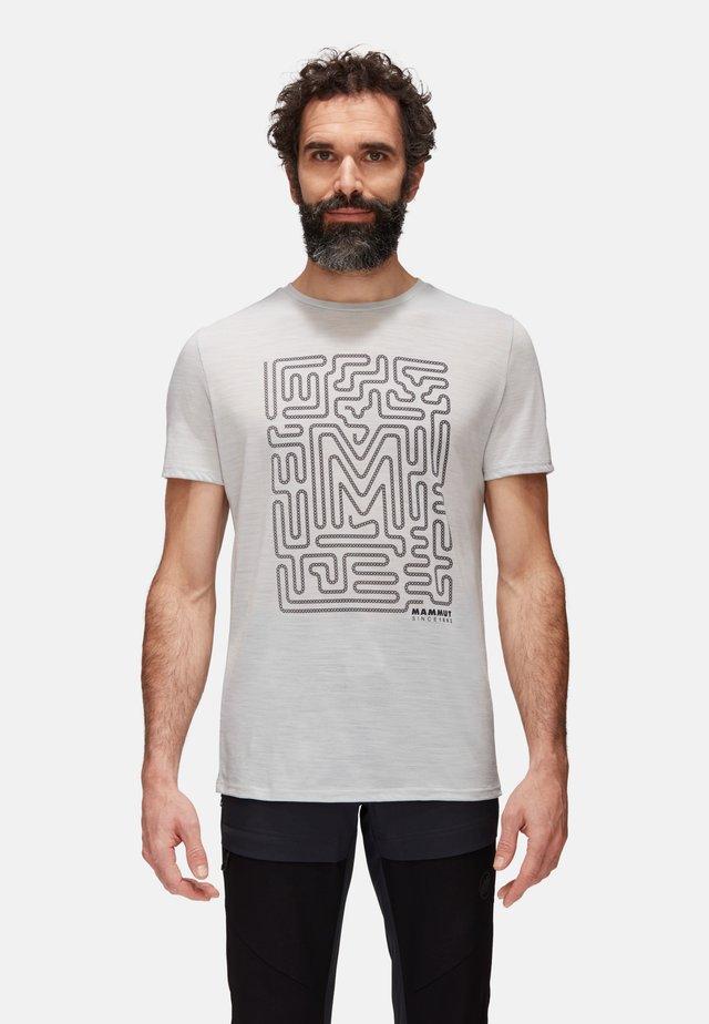 Print T-shirt - highway melange