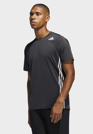 FREELIFT 3-STRIPES T-SHIRT - Print T-shirt - black