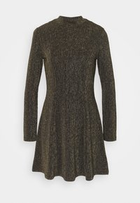 Monki - RITVA DRESS - Cocktail dress / Party dress - gold/black - 0