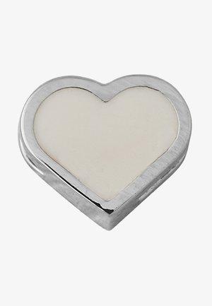 ENAMEL HEART CHARM - Charm - nude