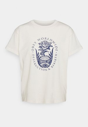 DECONSTRUCTION & REBIRTH - Print T-shirt - cream