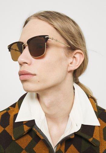 UNISEX - Occhiali da sole - havana/gold-coloured/brown