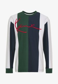 Karl Kani - SIGNATURE STRIPE LONGSLEEVE - Long sleeved top - green/white/navy/red - 4
