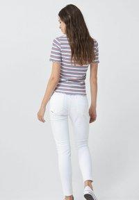 Salsa - FRANCE BODYCON - Print T-shirt - blue / red / white - 2