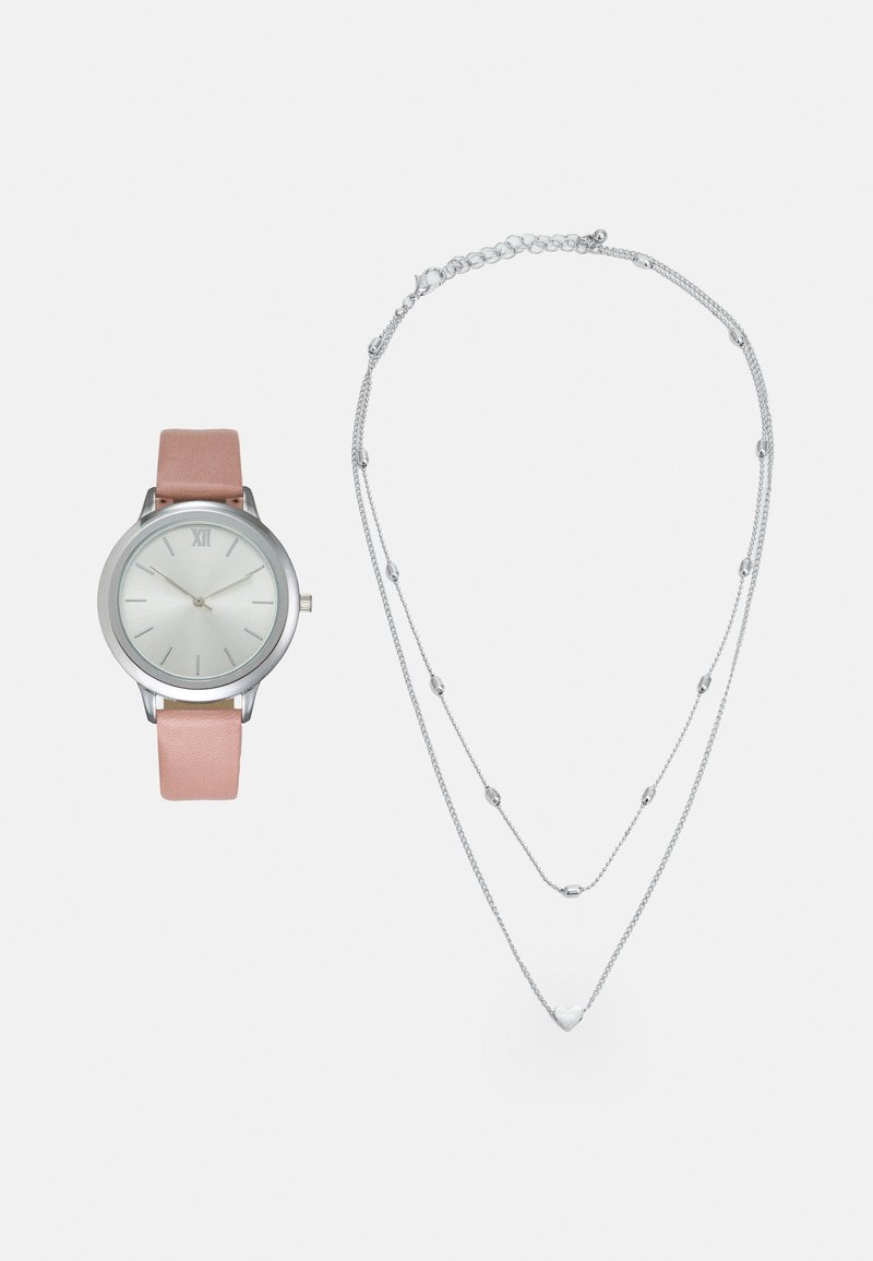 Even&Odd - SET - Watch - pink/silver-coloured