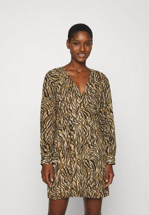 HARP WRAP DRESS - Day dress - khaki