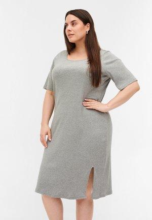 Gebreide jurk - light grey melange