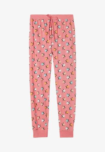 Pyjama bottoms - multifarben pink star print