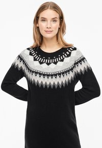 s.Oliver - MIT NORWEGERMUSTER - Jumper dress - black - 3